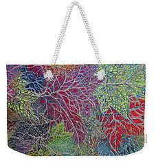Big Leaf Maple Abstract Weekender Tote Bag by Anne Havard
