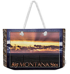 Weekender Tote Bag featuring the photograph Big Montana Sky by Susan Kinney