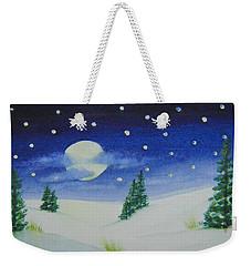 Big Moon Christmas Weekender Tote Bag