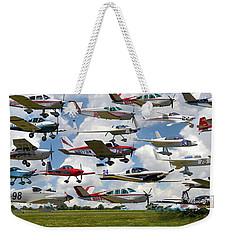 Big Muddy Fly-by Collage Weekender Tote Bag