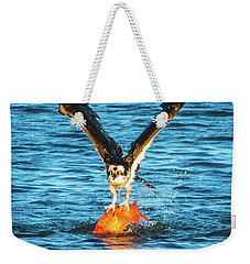 Big Orange Koi Fish Wins Weekender Tote Bag