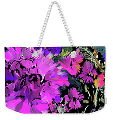 Big Pink Flower Weekender Tote Bag