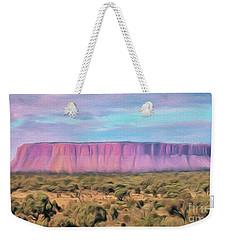 Big Pink Mesa Weekender Tote Bag