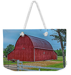 Weekender Tote Bag featuring the photograph Big Red Barn At Cross Village by Bill Gallagher