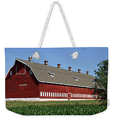 Big Red Barn In Spring Weekender Tote Bag