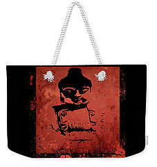 Weekender Tote Bag featuring the painting Big Red Buddha by Kandy Hurley