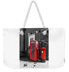Weekender Tote Bag featuring the photograph Big Red Little Red by Scott Carruthers
