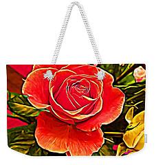 Big Red Rose Weekender Tote Bag