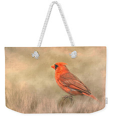 Weekender Tote Bag featuring the mixed media Big Red by Steven Richardson