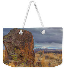 Big Rock At Lava Beds Weekender Tote Bag