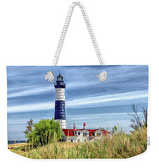 Weekender Tote Bag featuring the painting Big Sable Point by Christopher Arndt