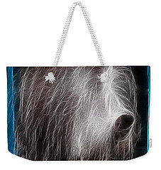 Weekender Tote Bag featuring the photograph Big Shaggy Dog by EricaMaxine  Price