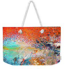 Big Shot - Orange And Blue Colorful Happy Abstract Art Painting Weekender Tote Bag