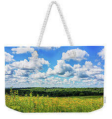 Weekender Tote Bag featuring the photograph Big Sky -wisconsin -color by Ricky L Jones