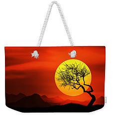 Big Sunset Weekender Tote Bag by Bess Hamiti