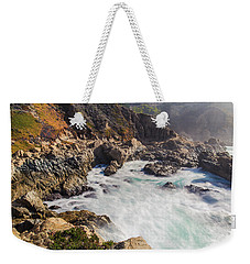 Weekender Tote Bag featuring the photograph Big Sur Coastline View Point by Jingjits Photography