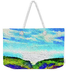 Weekender Tote Bag featuring the painting Big Sur by Joan Reese