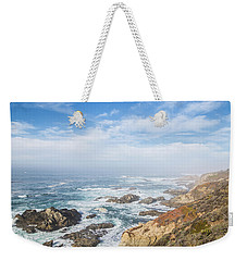 Weekender Tote Bag featuring the photograph Big Sur Sea View by Jingjits Photography