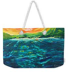 Big Tropical Wave Weekender Tote Bag