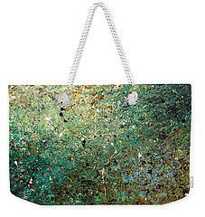 Weekender Tote Bag featuring the painting Big Universe - Abstract Art by Carmen Guedez