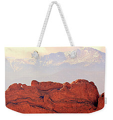 Big View Kissing Camels N Pikes Peak Weekender Tote Bag