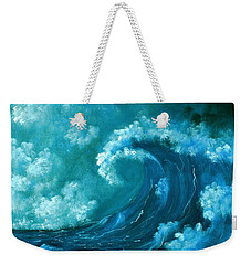 Weekender Tote Bag featuring the painting Big Wave by Anastasiya Malakhova