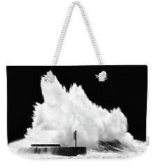 Big Wave Breaking On Breakwater Weekender Tote Bag