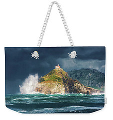 Big Waves Over San Juan De Gaztelugatxe Weekender Tote Bag