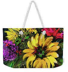 Big Yellow Flower Weekender Tote Bag