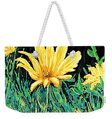 Weekender Tote Bag featuring the painting Big Yellow by Ian  MacDonald