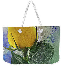 Weekender Tote Bag featuring the digital art Big Yellow by Terry Foster