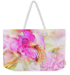 Weekender Tote Bag featuring the photograph Bigleaf Hydrangea Abstract by Nick Biemans