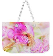Bigleaf Hydrangea Abstract Weekender Tote Bag by Nick Biemans