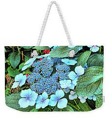 Weekender Tote Bag featuring the photograph Bigleaf Hydrangea by Richard Goldman