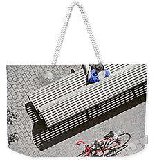 Weekender Tote Bag featuring the photograph Bike Break by Keith Armstrong