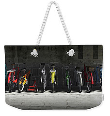 Bike Rack Weekender Tote Bag