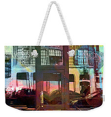 Weekender Tote Bag featuring the digital art Bike Ride To Runyons by Susan Stone