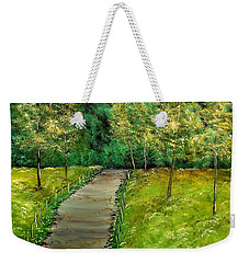 Bike Trail Weekender Tote Bag