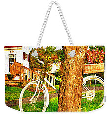 Bike With Flowers Weekender Tote Bag