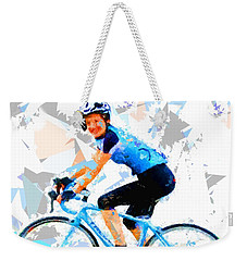 Weekender Tote Bag featuring the painting Biker 1 by Movie Poster Prints