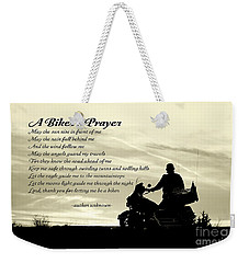 Biker's Prayer Weekender Tote Bag