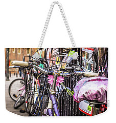 Bikes And Adverts Weekender Tote Bag by David Warrington