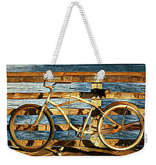Biking To The Beach Weekender Tote Bag