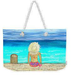 Bikini On The Pier Weekender Tote Bag