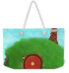 Weekender Tote Bag featuring the painting Bilbo's Home In The  Shire by Kevin Caudill
