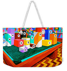 Weekender Tote Bag featuring the painting Billiard Table by Cyril Maza