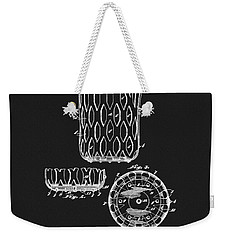 Weekender Tote Bag featuring the mixed media Billiards Table Pocket Patent by Dan Sproul
