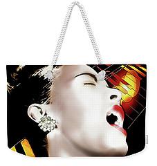 Billie Holiday Weekender Tote Bag by Pennie McCracken