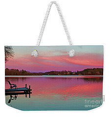 Weekender Tote Bag featuring the photograph Billington Sea Perfection by Amazing Jules