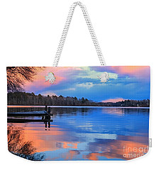 Weekender Tote Bag featuring the photograph Billington Sea Sunset by Amazing Jules